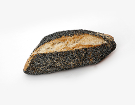 Poppy-Seed Diamond Roll